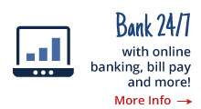 Link to online banking and bill pay information